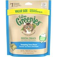 Greenies Feline Tempting Tuna Flavor Dental Cat Treats 2.5oz