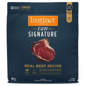 Nature's Variety Instinct Frozen Raw Signature Real Beef Recipe for Dogs Bites Trial 8oz - 4lb