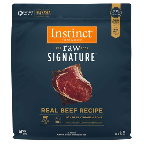 Nature's Variety Instinct Frozen Raw Signature Real Beef Recipe for Dogs Bites Trial 8oz - 4lb (Must be home 1-9pm)