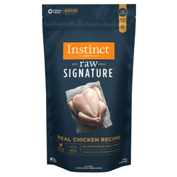 Nature's Variety Instinct Frozen Raw Signature Real Chicken Recipe for Dogs Patties (6lb - 18lb)