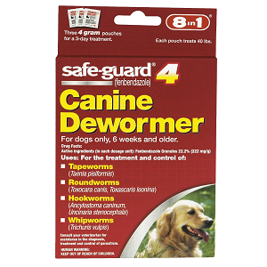 8in1 Safe-Guard 4 Canine De-Wormer for Large Dogs 3 Day Treatment