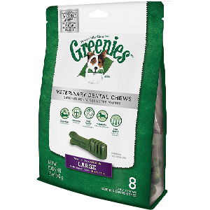 Greenies Veterinary Dental Chews Large Dental Dog Treats 8 count Bag