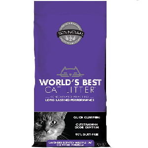 World's Best Cat Litter Lavender Scented Multiple Cat Clumping Formula (7lb - 28lb) Bag