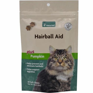 NaturVet Hairball Aid Plus Pumpkin Cat Soft Chew - 50ct