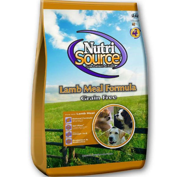 Nutrisource Grain Free Adult Lamb Dry Dog Food 30lb (MAP ENFORCED-IN STORE PURCHASE MAY HAVE LOWER PRICE)