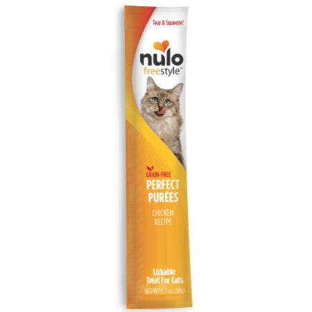 Nulo FreeStyle Cat Grain-Free Chicken Puree Sachet Cat Treat 0.5oz