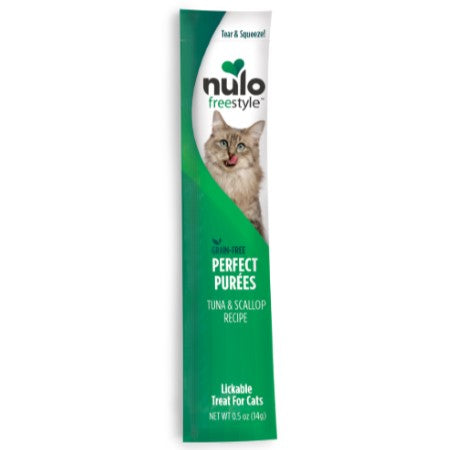 Nulo FreeStyle Cat Grain-Free Tuna & Scallop Puree Sachet Cat Treat 0.5oz