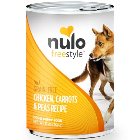Nulo Freestyle Chicken, Carrots & Peas Recipe Canned Dog Food 13oz