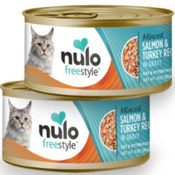 Nulo FreeStyle Cat Minced Salmon & Turkey in Gravy 3oz Canned Cat Food