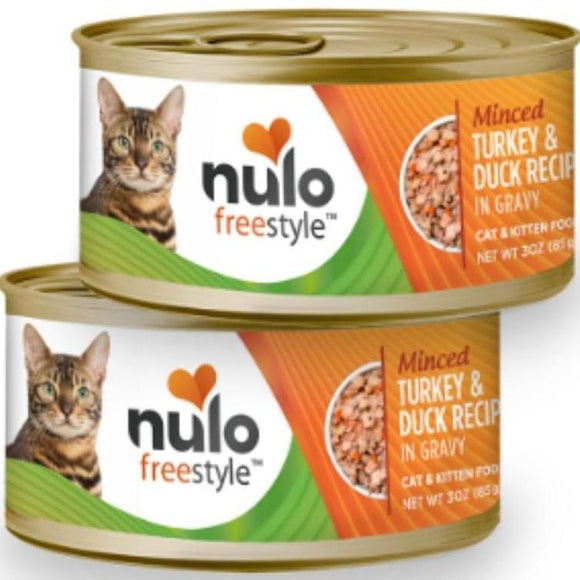 Nulo FreeStyle  Cat Minced Turkey & Duck in Gravy 3oz Canned Cat Food