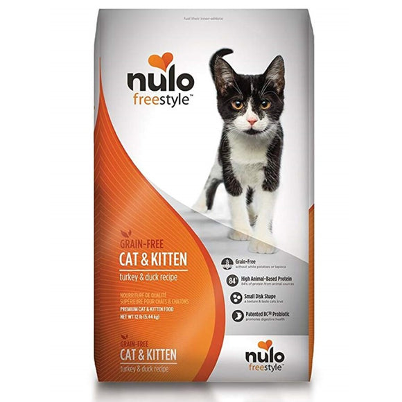 Nulo Freestyle Grain Free Cat & Kitten Turkey & Duck Recipe Dry Cat Food 5lb