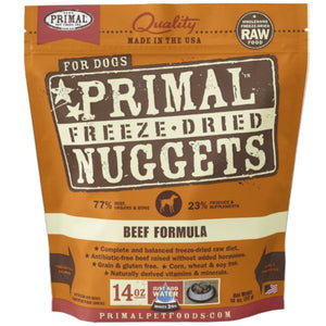 Primal Freeze-Dried Raw Beef Formula Dog (5.5oz - 14oz)