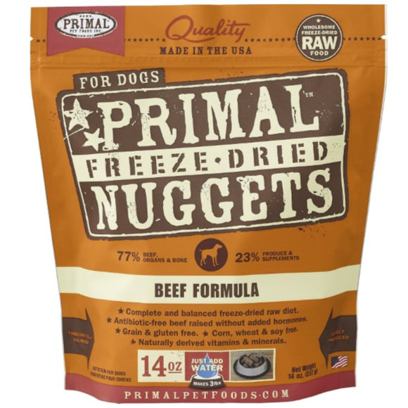 Primal Freeze-Dried Beef Formula Dog (5.5oz - 14oz)