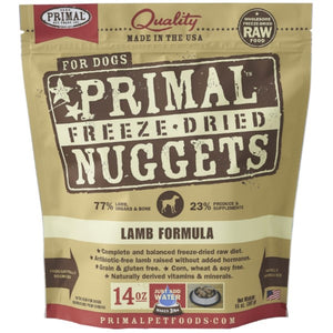 Primal Freeze-Dried Raw Lamb Formula Dog (5.5oz - 14oz)