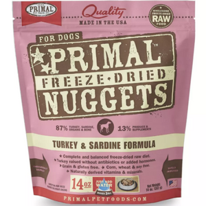Primal Freeze-Dried Raw Turkey & Sardine Formula Dog 14oz