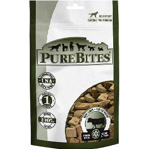 PureBites Beef Liver Freeze-Dried Dog Treats 4.2oz Bag