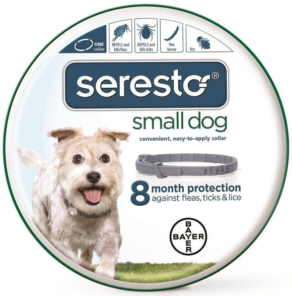 Seresto 8 Month Flea & Tick Collar for Small Dogs & Puppies (up to 18 pounds)