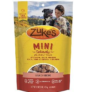 Zuke's Mini Naturals Salmon Recipe Dog Treats (6oz - 1lb) Bag