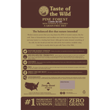 Taste of the Wild Pine Forest Dog Food 28lb