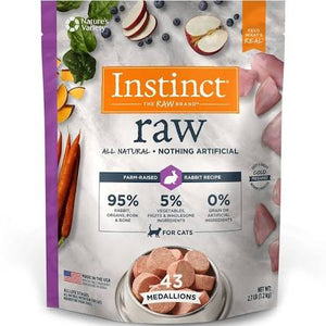 Nature's Variety Instinct Rabbit Raw Medallions Cat Food - 2.7lb