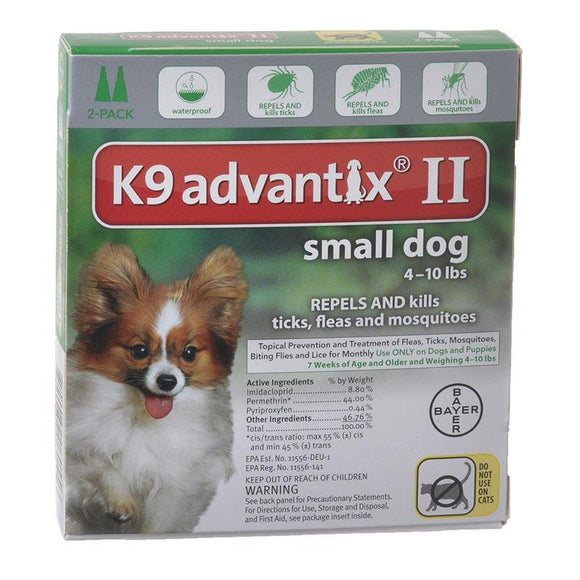 K9 Advantix II Small Dog 4 - 10lb (2 dose - 6 dose) - Qualifies for No Minimum Order +Free Ship to Yuba City