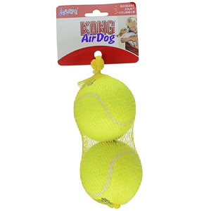 KONG AirDog Squeakair 2 Ball Pack Dog Toy