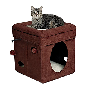 MidWest Curious Cat Cube Cat House / Cat Condo