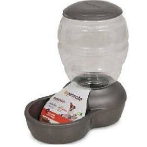 Petmate Pearl Replendish Feeder With Microban 18 Gal (Gray)