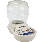 Petmate Pearl Replendish Waterer With Microban 1 Gal - 2.5 Gal - 4 Gal (White)