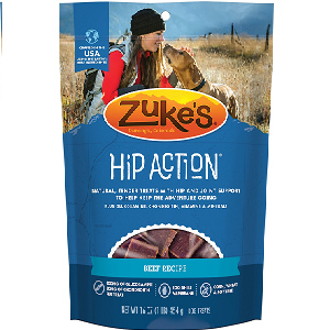 Zuke's Hip Action Beef Recipe Dog Treats 1lb