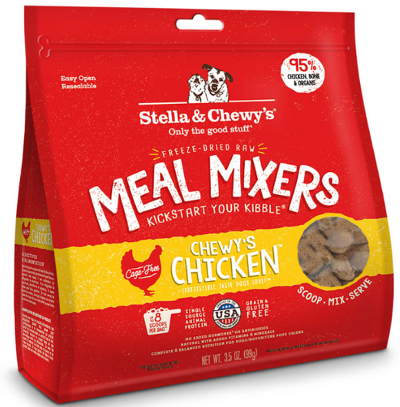 Stella & Chewy's Chicken Meal Mixers Freeze-Dried Raw (3.5oz - 18oz)