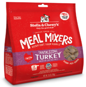Stella & Chewy's Chewy's Tantalizing Turkey Meal Mixers Grain Free Freeze-Dried Dog Food (3.5oz-18oz)