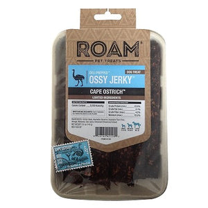 ROAM Ossy Jerky Cape Ostrich Dog Treats (5oz)
