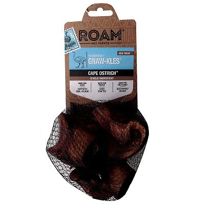 ROAM Pet Treats Gnaw-Kles Cape Ostrich Bone for Dogs (3 Pack)