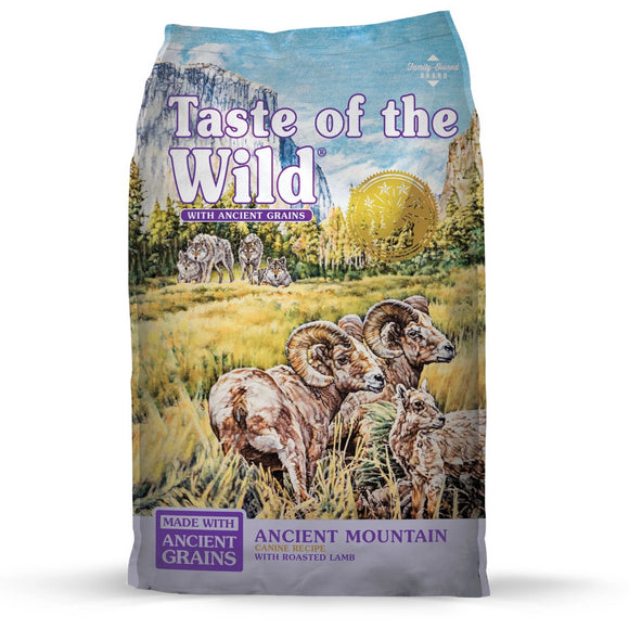 Taste of the Wild Dry Dog Food Ancient Grains Sierra Mountain (5lb-28lb)