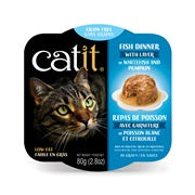 Catit Fish Dinner with Whitefish & Pumpkin Wet Cat Food 2.8 oz