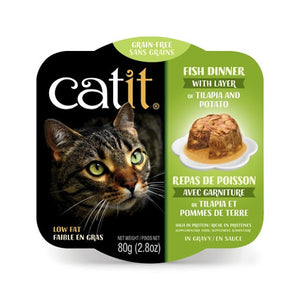 Catit Fish Dinner with Tilapia & Potato Wet Cat Food 2.8 oz
