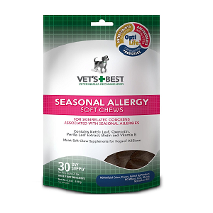 Vet's Best Seasonal Allergy Soft Chews Dog Supplement 30 count