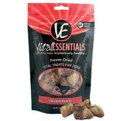 Vital Essentials Chicken Hearts Freeze-Dried Treats 1.9oz