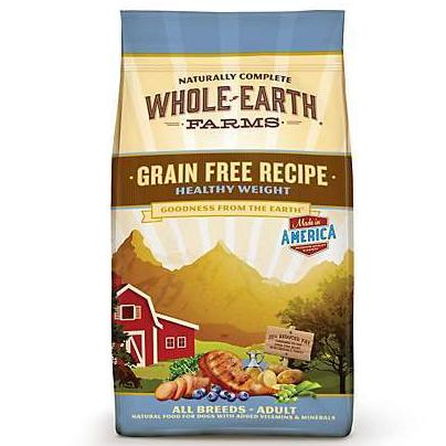Whole Earth Farms Grain Free Healthy Weight 25lbs (For all ages & dog breeds)