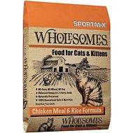 Sportmix Wholesomes Chicken Meal & Rice Adult Dry Cat Food (20lb - 40lb) - Qualifies for No Minimum Order +Ship Free to YUBA CITY