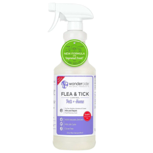 100% WONDERCIDE Repel & Kill FLEA & TICK & Mosquitos ROSEMARY 100% NATURAL SPRAY (FOR PETS & HOME: 4OZ - 32OZ)