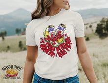 Load image into Gallery viewer, Booze Beads & Crawfish Tails Please - CRAWFISH TEES