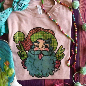 MISSMUDPIE Hippie Peace Santa Claus Hand Drawn - PEACH