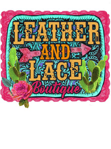 Leather and Lace Boutique - Custom Design - Gildan Soft Style