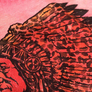 Leopard Indian Chief Red Bleached Sweatshirt
