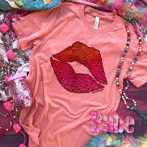 MISSMUDPIE Leopard sunset kiss lips - Sunset
