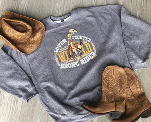 MISSMUDPIE Lover Fighter Wild Bronc Rider Sweatshirt