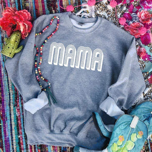 Shipping Dept. MAMA - Gray Sweatshirt