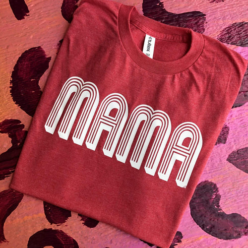 MISSMUDPIE MAMA  - Heather Red